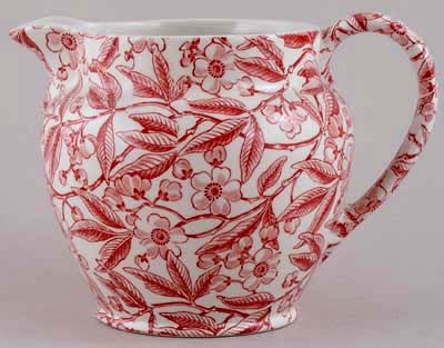 Burleigh Prunus red Jug or Pitcher Dutch large