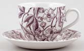 Burleigh Prunus plum Teacup and Saucer