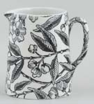 Burleigh Prunus black Jug or Pitcher Tankard mini