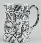 Burleigh Prunus black Jug or Pitcher Tankard small