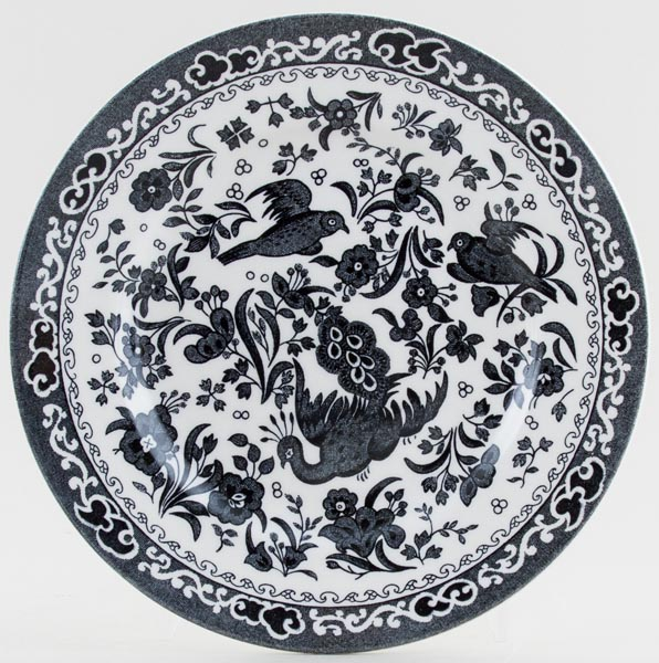Burleigh Regal Peacock black Side or Cheese Plate