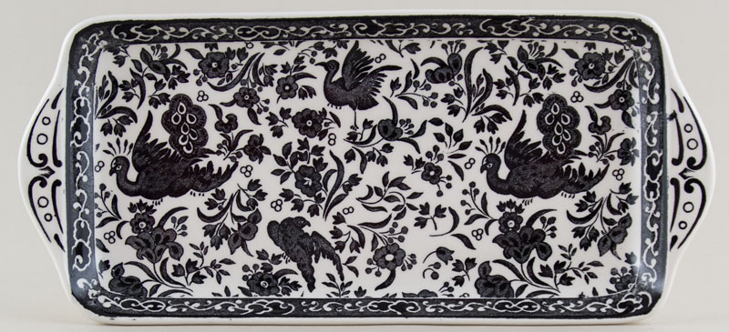 Burleigh Regal Peacock black Sandwich Tray