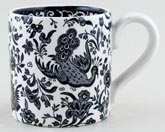 Burleigh Regal Peacock black Mug childs or coffee