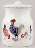 Burleigh Rosies Hens colour Storage Jar