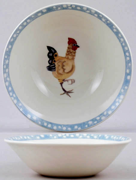 Burleigh Rosies Hens colour Cereal or Dessert Bowl