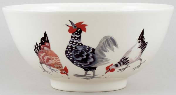 Burleigh Rosies Hens colour Chinese Bowl medium