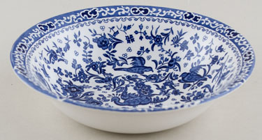 Burleigh Regal Peacock Dessert or Soup Bowl
