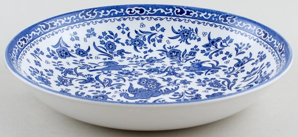 Burleigh Regal Peacock Pasta Bowl