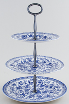Burleigh Regal Peacock Cake Stand 3 tier