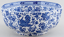 Burleigh Regal Peacock Bowl octagonal