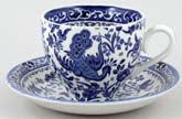Burleigh Regal Peacock Teacup and Saucer