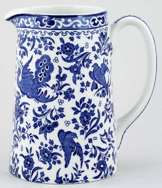 Burleigh Regal Peacock Jug or Pitcher Tankard medium