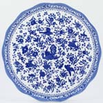 Burleigh Regal Peacock Cake Plate