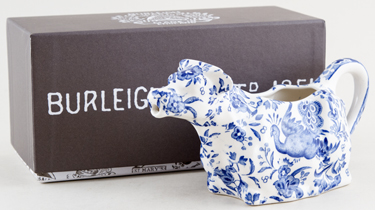 Burleigh Regal Peacock Cow Creamer Boxed