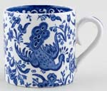 Burleigh Regal Peacock Mug Childs or Coffee