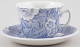 Burleigh Victorian Chintz Teacup and Saucer