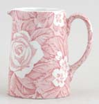 Burleigh Victorian Chintz pink Jug or Pitcher Tankard small
