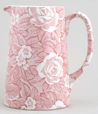 Burleigh Victorian Chintz pink Jug or Pitcher Tankard medium