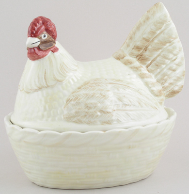 Burleigh Rosies Hens colour Hen Egg Basket