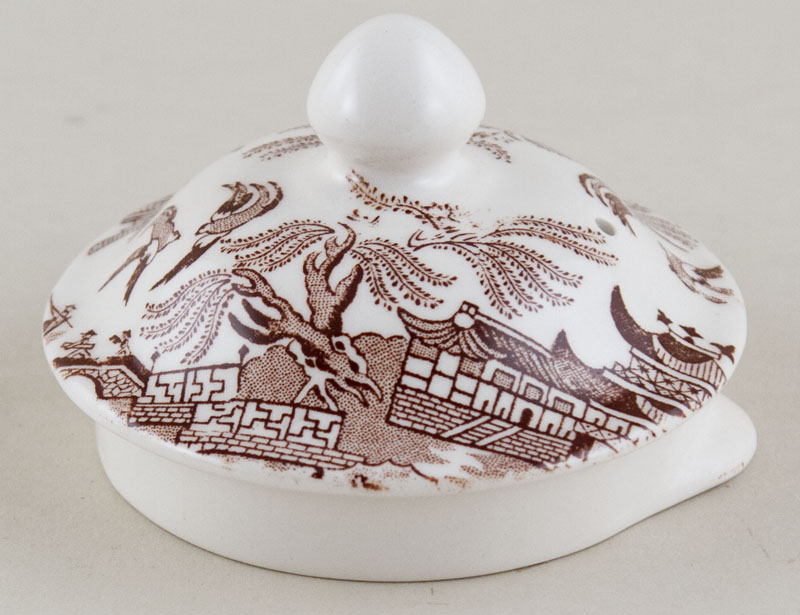 Burleigh Willow brown Teapot Lid large