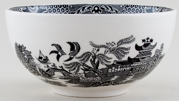 Burleigh Willow black Chinese Bowl small