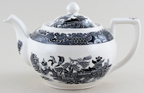 Burleigh Willow black Teapot large