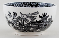 Burleigh Willow black Sugar Bowl large