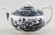 Burleigh Willow black Teapot small