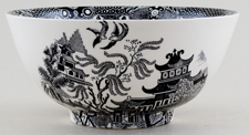 Burleigh Willow black Chinese Bowl medium