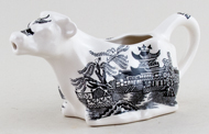 Burleigh Willow black Cow Creamer