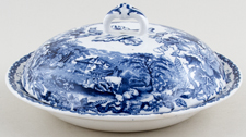 Booths British Scenery Muffin Dish c1910