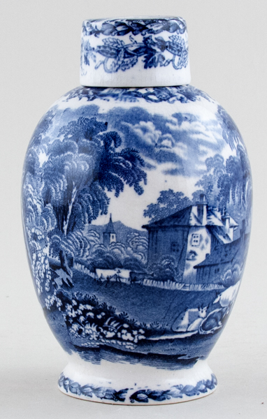 Booths British Scenery Vase with Cover c1920s