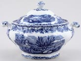 Booths British Scenery Sauce Tureen c1920s