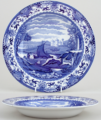 Booths Old Blue Danube Soup or Pasta Plate c1931