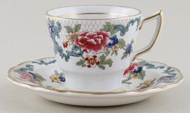 Booths Floradora colour Coffee Cup and Saucer c1950s