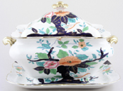 Booths Oriental Tree colour Soup Tureen c1920