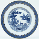 Booths Lowestoft Deer Plate c1950s