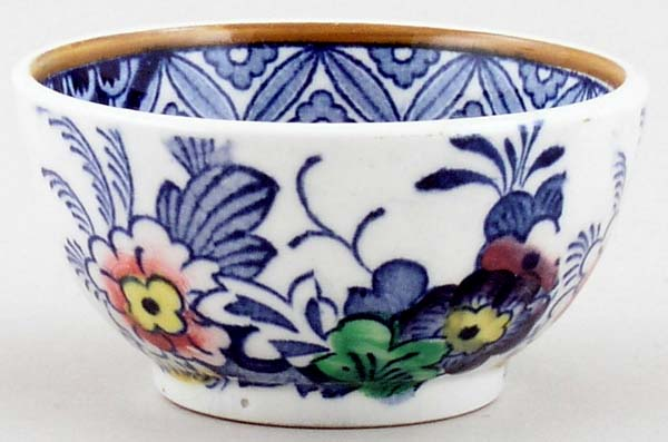Booths Netherlands blue with colour Sugar Bowl tiny c1930s