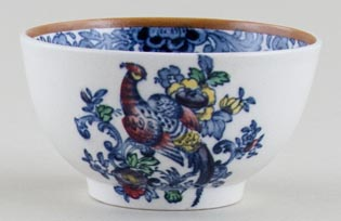 Booths The Pheasant blue with colour Sugar Bowl small c1930