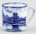 Brain Neidpath Castle Miniature Mug c1903