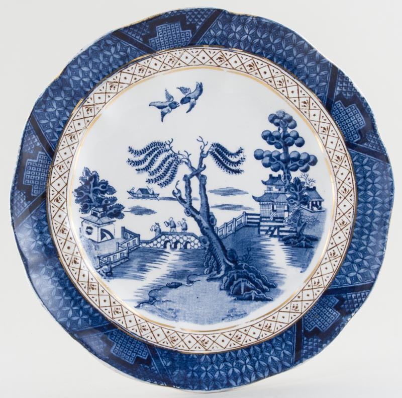 Booths Real Old Willow Dessert Plate c1930