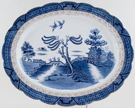 Booths Real Old Willow Meat Dish or Platter c1930