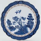 Booths Real Old Willow Plate Coupe c1950s