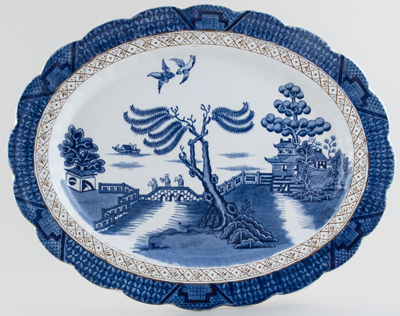 Booths Real Old Willow Meat Dish or Platter c1929
