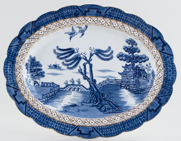 Booths Real Old Willow Meat Dish or Platter c1932