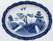 Booths Real Old Willow Meat Dish or Platter with Tree and Well c1926