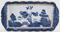 Booths Real Old Willow Sandwich Tray c1950s