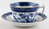 Booths Real Old Willow Teacup and Saucer c1930