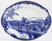 Burgess and Leigh Britain Beautiful Meat Dish or Platter Balmoral Castle c1930s
