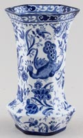 Burgess and Leigh Chinese Peacock Vase c1920s